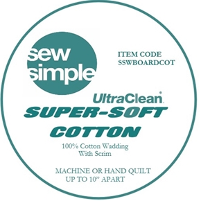 Sew Simple super soft cotton Wadding Extra wide