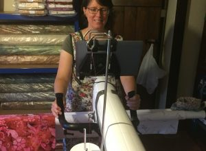 Long Arm Quilter and work room