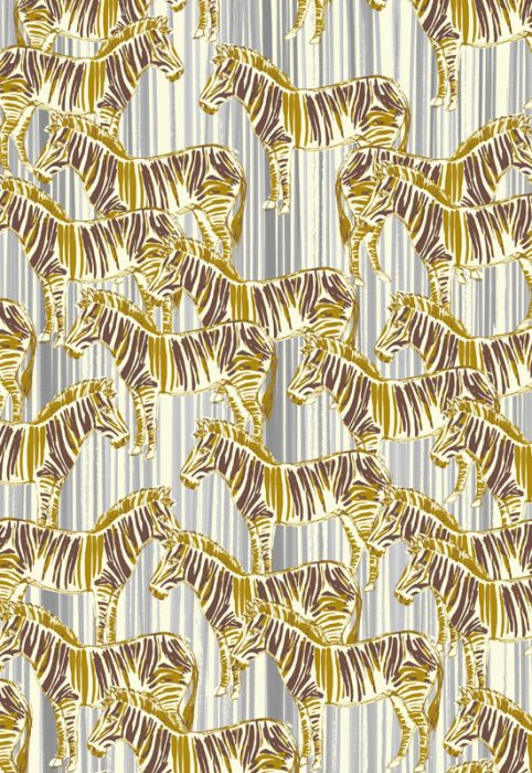 Zebra Quilting Fabric by Inprint Jane Makower