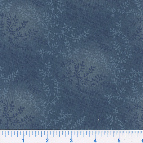 Blue Extra wide quilt backing fabric Tonal Vineyard