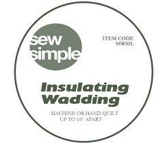 insulated wadding
