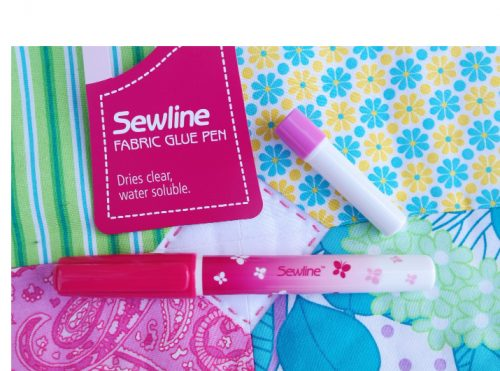 Sewline Glue pen - Water Soluble Glue Stick and blue refill