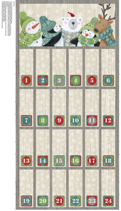 Hurry up Santa advent calendar panel by Northcott Fabrics