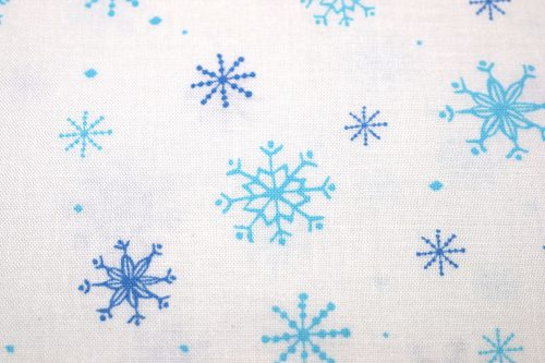 Quilting Treasures Just Chillin Snowflakes Fabric in White