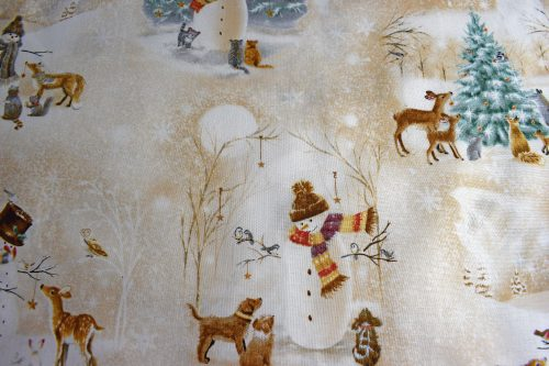 Quilting treasures Woodland Friends Woodland vignettes Christmas Fabric