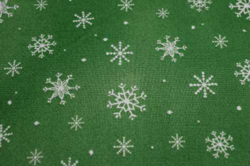 Quilting Treasures Just Chillin Snowflakes Fabric in Green