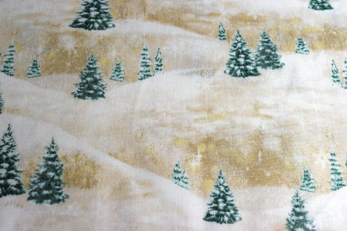 Quilting treasures Woodland Friends Pine Tree scenic