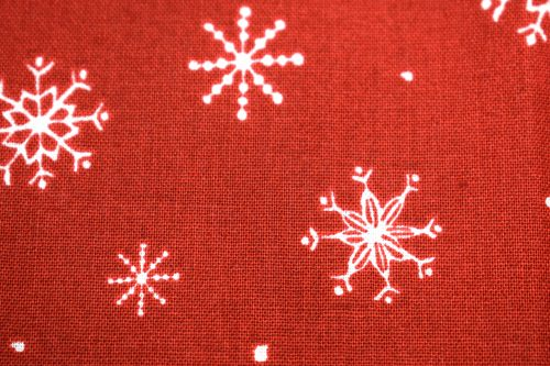 Quilting Treasures Just Chillin Snowflakes Fabric in Red
