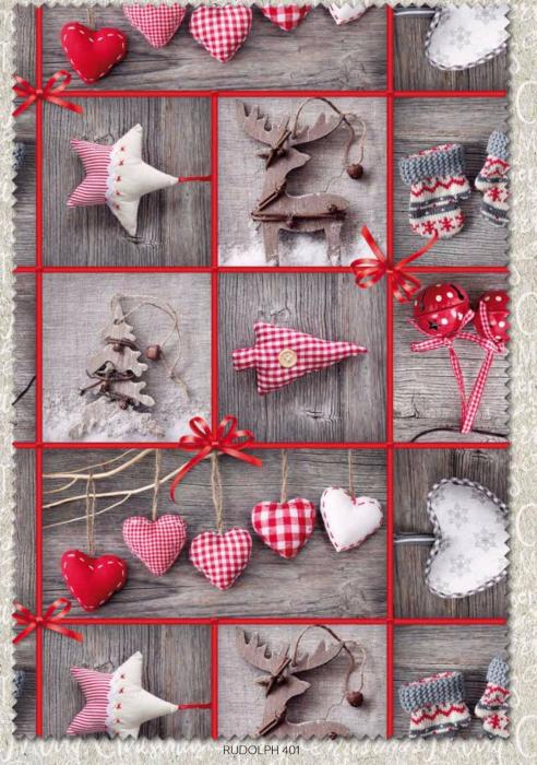 Rudolph Christmas Quilting fabric by Indigo Fabrics
