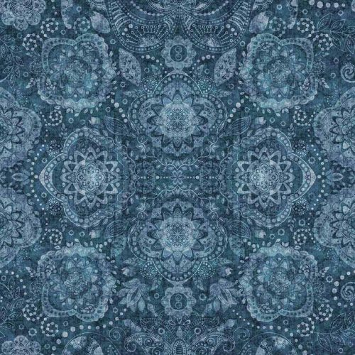 Blue tonal Paisley quilting fabric from Quilting Treasures Caravan Range
