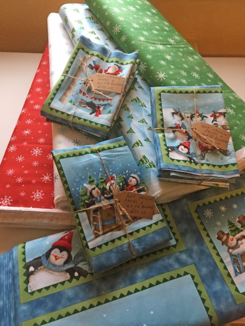 Christmas Fat Quarter Bundle based on Just Chillin by Quilting Treasures
