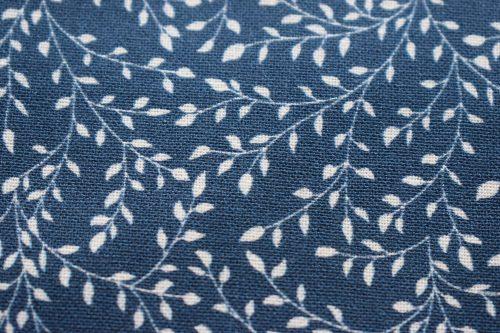 Dark Blue Vine Pattern fabric By Indigo Fabrics Liv C603