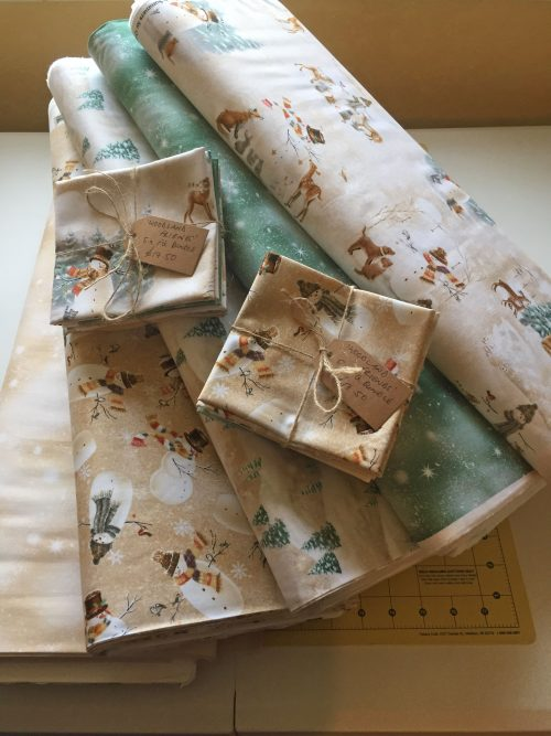 Christmas Fat Quarter Bundle based on Woodland Friends by Quilting Treasures