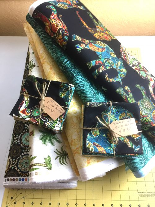 Black Elephant Fat Quarter Bundle by Quilting Treasures Caravan Range