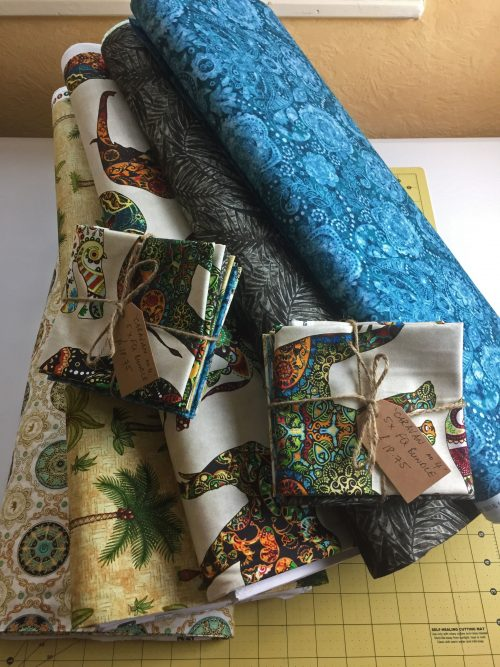 Elephant Fat Quarter Bundle by Quilting Treasures Caravan Range