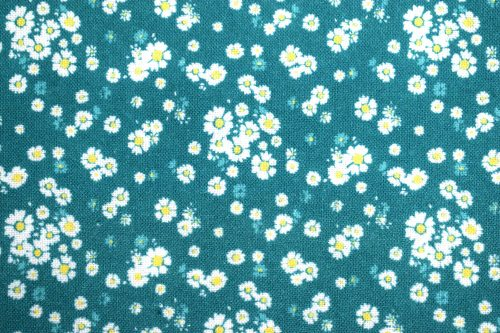 Bela quilting fabric By Indigo Fabrics of Spain Turquoise floral fabric