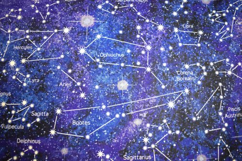 Out of this World Star constellation quilting fabric