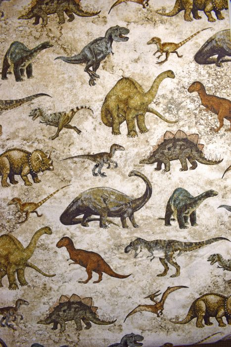 Dinosaur quilting fabric by Prehistoric Linda Ludovico