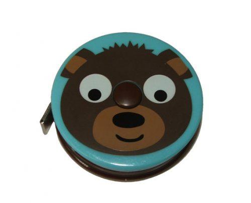 Metro Zoo Brown Bear childrens retractable tape measure