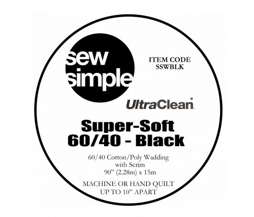 Sew Simple Black wadding cotton polyester blend