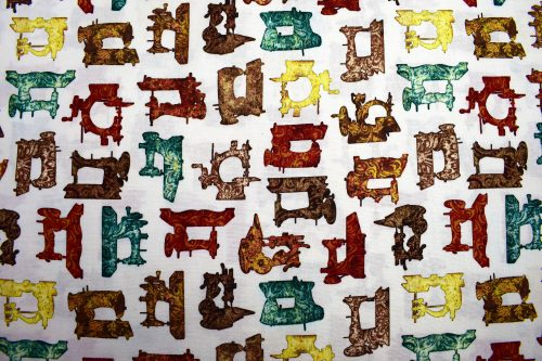 Vintage Sewing Machine quilting fabric for Quilting Treasures part of Seamless range