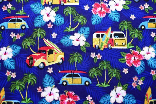 Surfing Quilting Fabric by Anna Bella